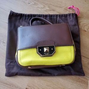 Pre-Owned Kate Spade NY Crossbody Yellow Brown